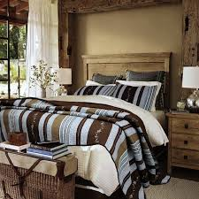 rustic lakeshore retreat striped quilt set newport home interiors