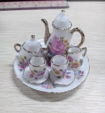 amazon com 8pcs dining ware porcelain tea set dish cup plate 1 6