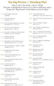 the big picture reading plan a2 church