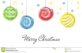 christmas balls draw watercolor stock vector image 61519480