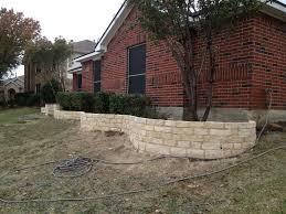 retaining wall dallas stone fence company white garden loversiq