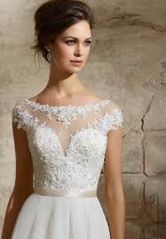 mori brautkleider glamorous a line tulle bridal dress floral appliques embellished