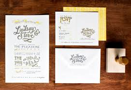 designer wedding invitations lindsay steve s lettered wedding invitations