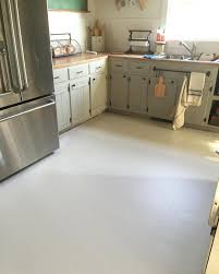 Floor Tiles For Kitchen by How To Paint Old Linoleum Kitchen Floors Floor Painting Iron