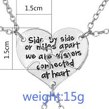 puzzle heart pendant necklace images Wlp jewelry heart pendant necklace best friends forever and ever 3 jpg