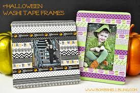 halloween washi tape frames