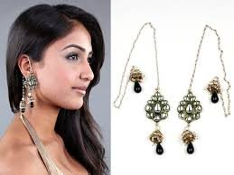 ear cuffs india kundan wrap around earrings traditional indian ear cuffs trend