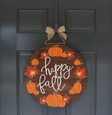 thanksgiving custom fall door hanger pumpkin door hanger thanksgiving door