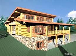 Log Cabin Plans by Clerestory House Plans Anderson Custom Homes Log Home Cabin