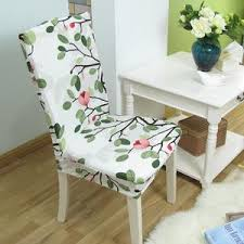 floral print home dining chair cover elastic chair covers spandex