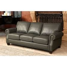 Gray Leather Sofa Leather Sofas Couches For Less Overstock