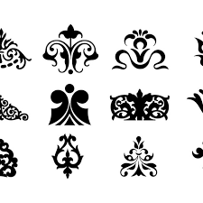 free vector decorative ornaments for logo web and graphic design