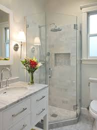 small bathroom ideas with shower stall a great look for a renovated bathroom home decorating