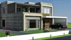 3d front elevation com 1 kkanal old design convert to modern