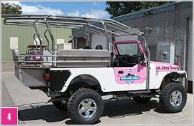 pink jeep rubicon tour vehicles custom built for off road pink adventure tours