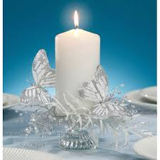 amazon com butterfly wedding decorations wired silver u0026 white