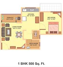 500 Square Feet Room by Contemporary 500 Square Foot House Plans Floor Plan E Throughout Decor