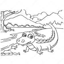 Les Coloriages crocodile vector  Image vectorielle attaphongw