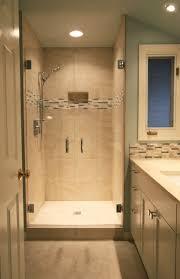 modern small bathroom tiles portrait dominating shower tile