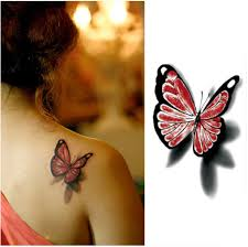 pretty 3d butterfly tattoos for women 2 in one package buytra com