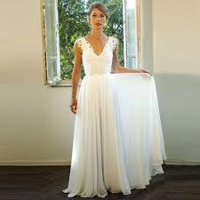 cheap in stock spaghetti straps beach boho wedding dresses 2017