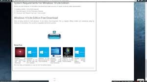 how to download windows 10 lite edition x64 direct link youtube