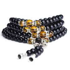 black prayer beads bracelet images 108pcs unisex 6mm black glaze artificial obsidian buddhist prayer jpg