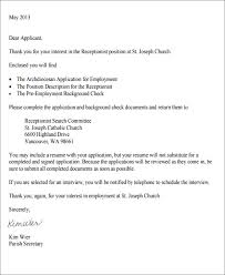 receptionist cover letter sample receptionist cover letter letter