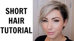 short hair tutorial chloenbrown youtube