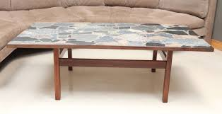 danish rosewood coffee table with terrazzo stone top at 1stdibs