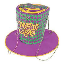 jumbo mardi gras jumbo mardi gras hat costume party favor purple green gold