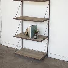 rustic metal shelves wall shelves u0026 storage woodwaves