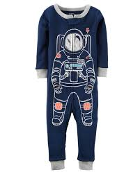 glow in the dark halloween pajamas 1 piece astronaut snug fit cotton footless pjs carters com