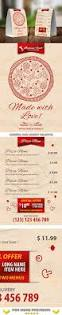 italian restaurant menu table tent template 20 by 21min graphicriver