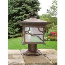 outdoor pier mount lights kichler lighting morris copper branch column pier mount outdoor lantern