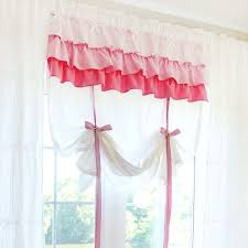 White Balloon Curtains Shabby Chic White Ruffled Tie Up Shade