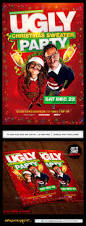 ugly christmas sweater party flyer by industrykidz graphicriver