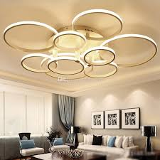 modern acrylic ring led circle chandelier lamp pendant light
