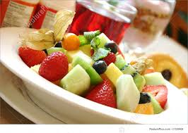 breakfast series fresh fruit bowl photo