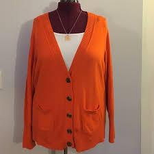 jcpenney sweaters 73 jcpenney sweaters jcpenney orange v cardigan