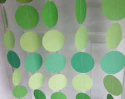 paper garland shades of green st patrick u0027s day