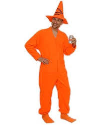 Pajama Halloween Costume Ideas Diy Orange Traffic Cone Halloween Costume Idea Using Footed