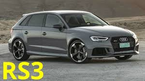 audi rs 3 2017 audi rs 3 sportback 400 hp 0 to 100 km h 62 1 mph in 4 1