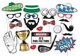 golf party photo booth props set 22 piece printable golfer