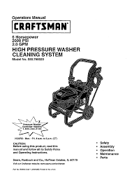 craftsman craftsman pressure washer 580 768020 user guide manualsonline com