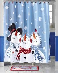 Discount Christmas Shower Curtains Snowman Shower Curtain Shower Curtain Rod