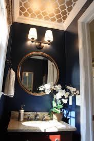 Powder Room Painting Ideas - looking up melissa u0027s powder room makeover dark blue bathrooms