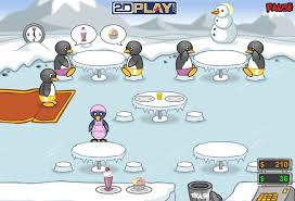 jeux de fille cuisine serveuse jeu de serveuse pingouin pinguin diner