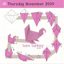 origami origami how to make a paper bird turkey for thanksgiving