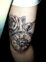 leg tattoo designs guys pocket watch tattoos pocket watch tattoos u2013 designs and ideas